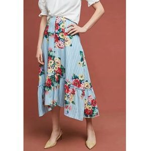 Anthropologie Claudette Midi Skirt by Maeve Sz14